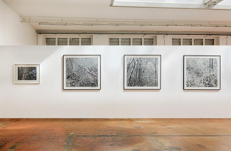Georges Wenger: «Erster Schnee», Linolschnitt