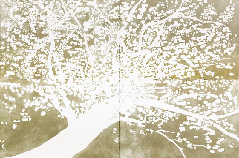 Bernadette Gruber: «Baum (Neubeginn)», Carborundum Print, 4-teilig
