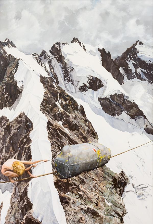 Jürg Daniel Matthys «Crosspoint Bianco Grat», 2011, 141 × 101 cm, Öl auf Leinwand