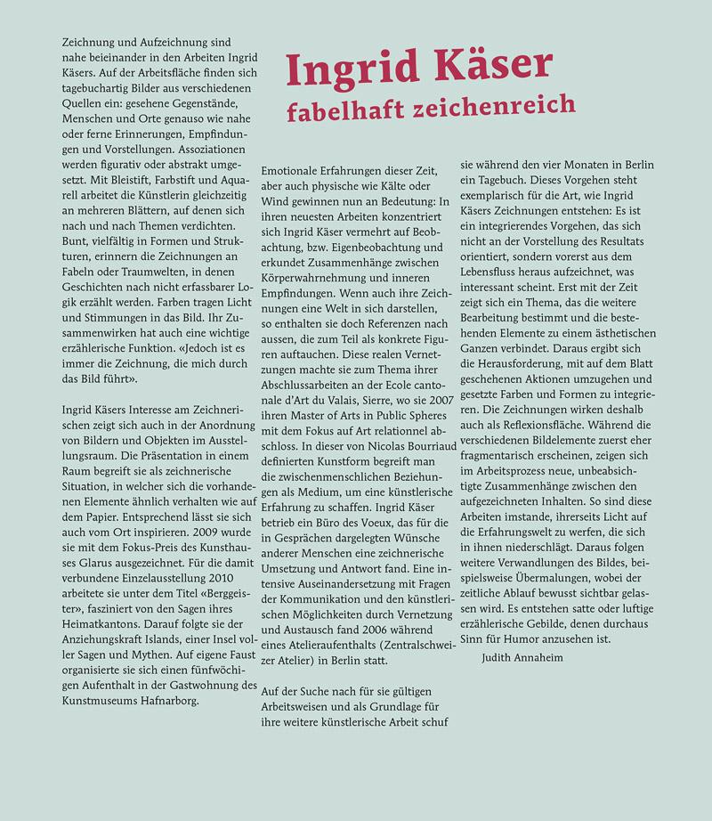 Künstlerporträt Ingrid Käser