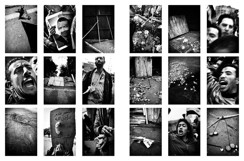 Demonstrationen gegen Mubarak auf dem Tahrir-Platz, Kairo, Ägypten. 2011, © Paolo Pellegrin / Magnum Photos, Paris