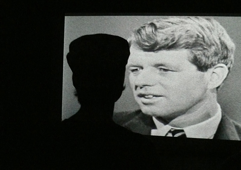 Viewer watching the video about Robert F. Kennedy. Photo © Rolf Siebenmann
