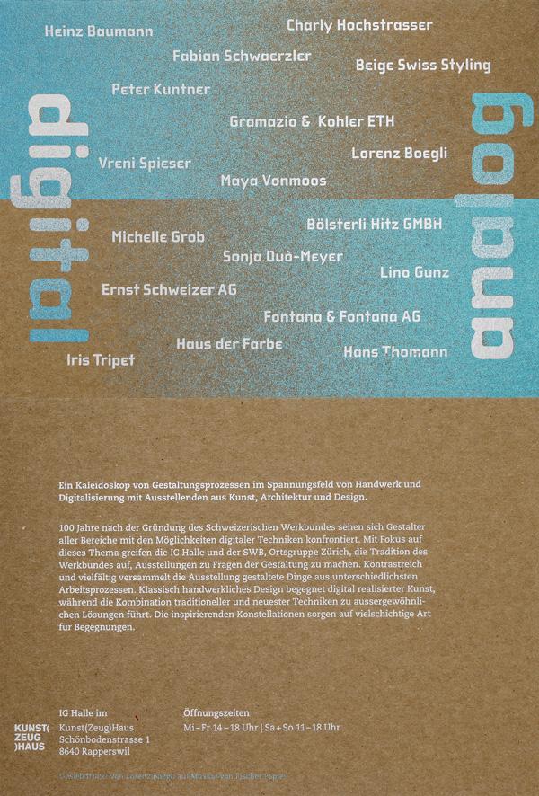 Einladungskarte in Siebdruck von Lorenz Boegli