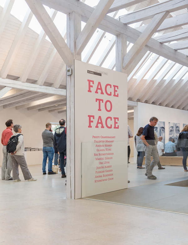 Vernissage der Ausstellung FACE TO FACE, 21. August 2016Opening of the exhibition FACE TO FACE, August 21, 2016